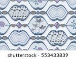 colorful vintage ceramic tiles... | Shutterstock . vector #553433839