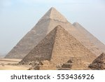 great egyptian pyramids in giza ... | Shutterstock . vector #553436926
