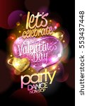 valentines day party  dance non ... | Shutterstock .eps vector #553437448