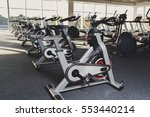modern gym interior with... | Shutterstock . vector #553440214