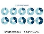 percentage vector infographics. ... | Shutterstock .eps vector #553440643