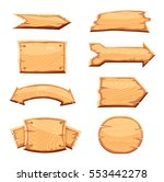 wooden sign set isolated on... | Shutterstock .eps vector #553442278