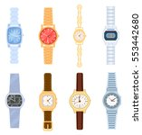 wrist watch set isolated on... | Shutterstock .eps vector #553442680