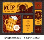 vintage craft beer banner set... | Shutterstock .eps vector #553443250