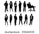 business people silhouettes | Shutterstock .eps vector #55344535