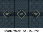 vintage pattern on black... | Shutterstock .eps vector #553453690