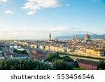 florence duomo landmark... | Shutterstock . vector #553456546