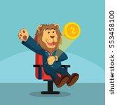 business lion smart watch... | Shutterstock . vector #553458100