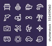 travel web icons.  vacation and ... | Shutterstock .eps vector #553459060