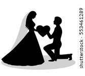 the bride and groom silhouette. ... | Shutterstock .eps vector #553461289