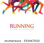 running marathon  people run ... | Shutterstock .eps vector #553467010