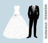 bride and groom. wedding card...   Shutterstock .eps vector #553469344