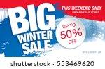 winter sale banner  vector... | Shutterstock .eps vector #553469620