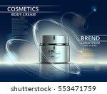 cosmetics for body cream. jar... | Shutterstock .eps vector #553471759