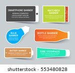 flat web layout set of colorful ... | Shutterstock .eps vector #553480828