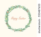 easter wreath | Shutterstock .eps vector #553487653