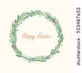 easter wreath   Shutterstock .eps vector #553487653