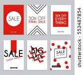 sale website banners web... | Shutterstock .eps vector #553487854