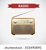 icon design for radio... | Shutterstock .eps vector #553490890