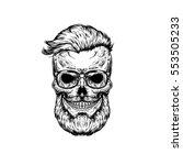 illustration of human skull in ... | Shutterstock . vector #553505233