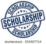 scholarship. stamp. blue round...   Shutterstock .eps vector #553507714