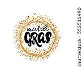 calligraphic badge. hand... | Shutterstock .eps vector #553512490