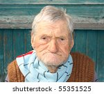a portrait of a very old man ... | Shutterstock . vector #55351525