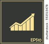 vector icon growth diagram | Shutterstock .eps vector #553515478