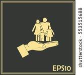 family life insurance sign icon.... | Shutterstock .eps vector #553515688