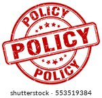 policy. stamp. red round grunge ... | Shutterstock .eps vector #553519384