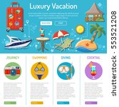 vacation and tourism... | Shutterstock .eps vector #553521208