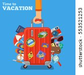 vacation and tourism concept... | Shutterstock .eps vector #553521253
