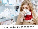 seasonal health issues. close... | Shutterstock . vector #553522093