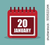 calendar with 20 january in a...