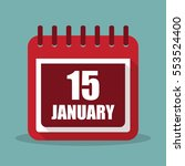 calendar with 15 january in a...