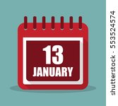 calendar with 13 january in a... | Shutterstock .eps vector #553524574