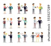 set of business concepts  in... | Shutterstock . vector #553527289