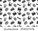 cinema seamless pattern with... | Shutterstock .eps vector #553527478