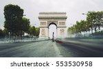 triumphal arch. paris. france.... | Shutterstock . vector #553530958
