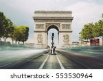Famous Avenue Champselysees Triumphal Arch - Fine Art prints