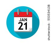 spiral calendar page with... | Shutterstock .eps vector #553534138