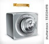 metal safe  3d vector icon | Shutterstock .eps vector #553534498