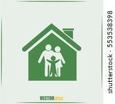 family in home icon | Shutterstock .eps vector #553538398