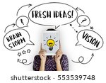 fresh ideas creative innovation ... | Shutterstock . vector #553539748