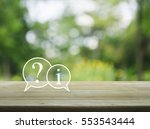question mark and information... | Shutterstock . vector #553543444