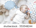 dream cloud and cute baby... | Shutterstock . vector #553548244