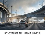 highway junction at the middle... | Shutterstock . vector #553548346