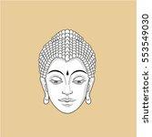 portrait of buddha. vector... | Shutterstock .eps vector #553549030