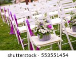 white wedding chairs with... | Shutterstock . vector #553551454