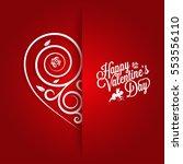 valentines day vintage card... | Shutterstock .eps vector #553556110